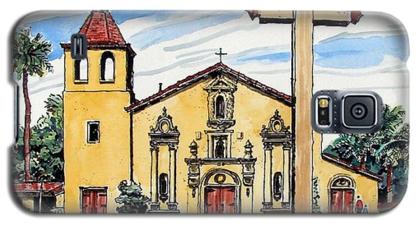 Galaxy S5 Case featuring the painting Mission Santa Clara De Asis by Terry Banderas