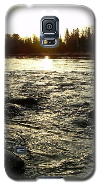 Mississippi River Dawn Reflection Galaxy S5 Case by Kent Lorentzen