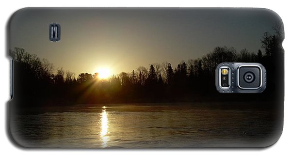 Mississippi River Golden Sunrise Galaxy S5 Case by Kent Lorentzen