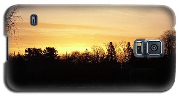 Mississippi River Orange Sky Galaxy S5 Case by Kent Lorentzen