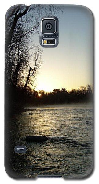 Mississippi River Sunrise Shadow Galaxy S5 Case by Kent Lorentzen