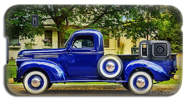 Galaxy S5 Case featuring the photograph Missoula Blue Truck by Craig J Satterlee