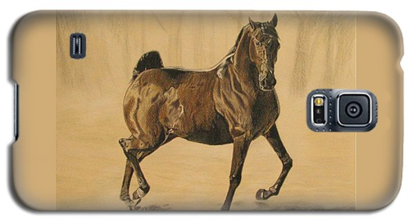 Galaxy S5 Case featuring the drawing Mistical Horse by Melita Safran