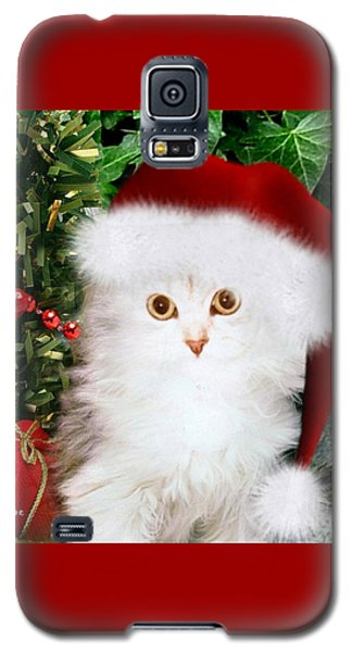 Galaxy S5 Case featuring the mixed media Mistletoe At Christmas by Morag Bates
