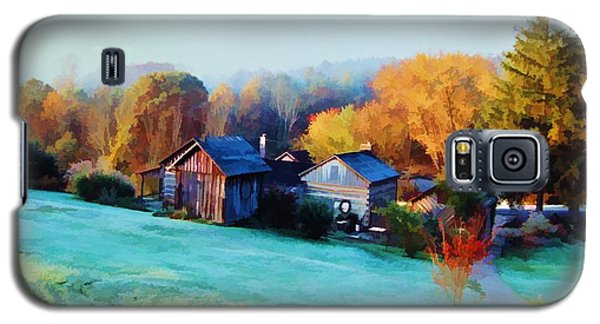Galaxy S5 Case featuring the photograph Misty Autumn Day by Diane Alexander