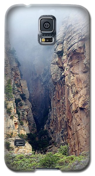 Galaxy S5 Case featuring the photograph Misty Canyons by Phyllis Denton