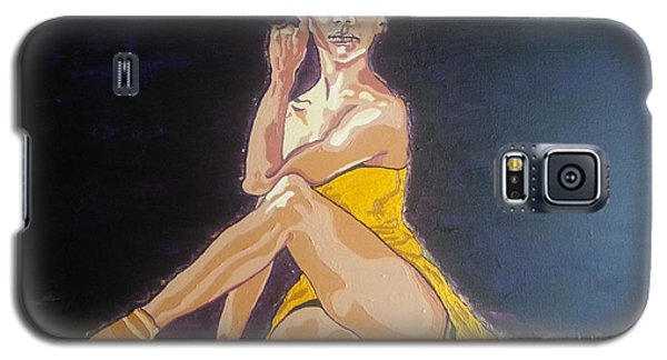 Galaxy S5 Case featuring the painting Misty Copeland by Rachel Natalie Rawlins