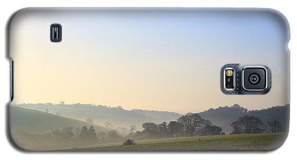 Misty Dawn Over The Cornish Countryside Galaxy S5 Case