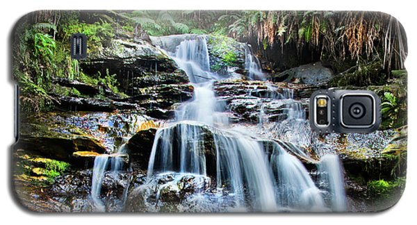 Galaxy S5 Case featuring the photograph Misty Falls by Az Jackson