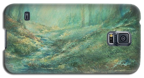 The Misty Forest Stream Galaxy S5 Case by Mary Wolf