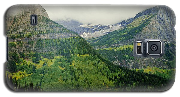 Galaxy S5 Case featuring the photograph Misty Glacier National Park View by Kae Cheatham