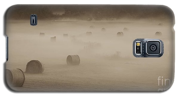 Misty Hay Bales Galaxy S5 Case