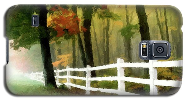 Galaxy S5 Case featuring the painting Misty In The Dell P D P by David Dehner