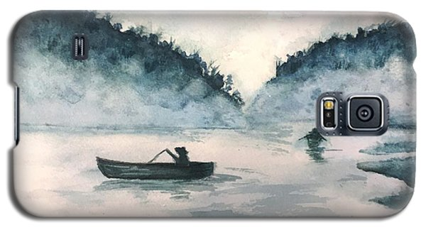 Galaxy S5 Case featuring the painting Misty Lake by Lucia Grilletto