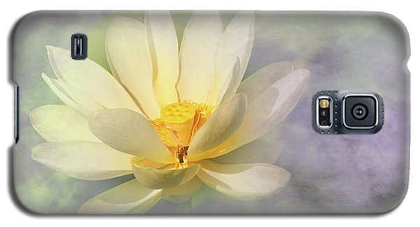 Galaxy S5 Case featuring the photograph Misty Lotus by Carolyn Dalessandro