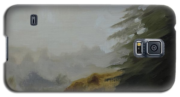 Galaxy S5 Case featuring the painting Misty Morning, Benevenagh by Barry Williamson