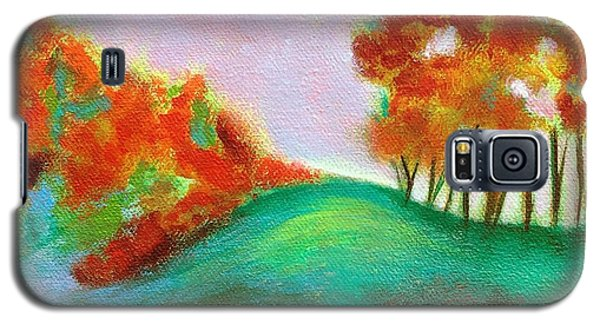 Galaxy S5 Case featuring the painting Misty Morning by Elizabeth Fontaine-Barr