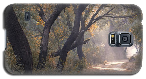 Galaxy S5 Case featuring the photograph Misty Morning, Bharatpur, 2005 by Hitendra SINKAR