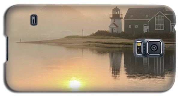 Galaxy S5 Case featuring the photograph Misty Morning Hyannis Harbor Lighthouse by Roupen  Baker