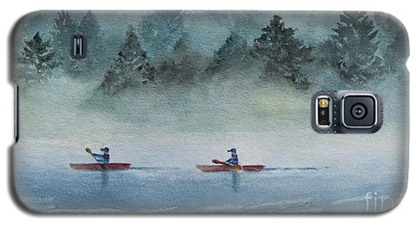 Galaxy S5 Case featuring the painting Misty Morning by Karen Fleschler