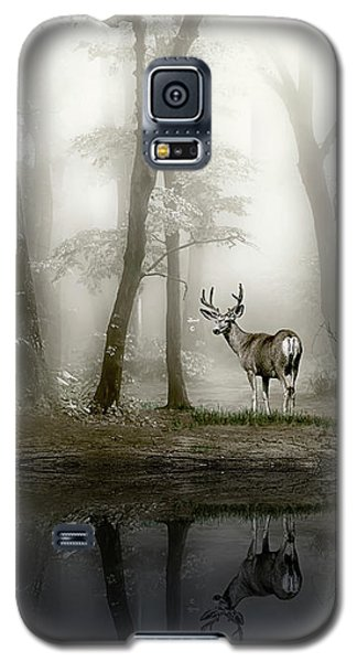 Galaxy S5 Case featuring the photograph Misty Morning Reflections by Diane Schuster