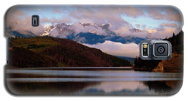 Galaxy S5 Case featuring the photograph Misty Mountain Morning by Karen Shackles