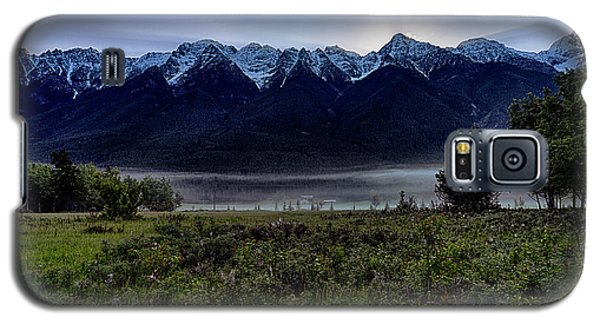 Galaxy S5 Case featuring the photograph Misty Mountain Morning Meadow  by Darcy Michaelchuk