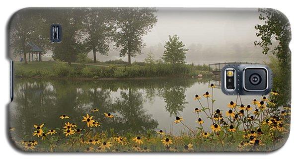 Misty Pond Bridge Reflection #3 Galaxy S5 Case