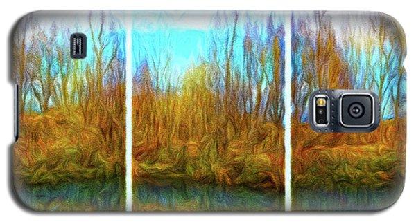 Misty River Vistas - Triptych Galaxy S5 Case