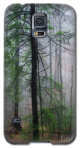 Galaxy S5 Case featuring the photograph Misty Winter Forest by Thomas R Fletcher
