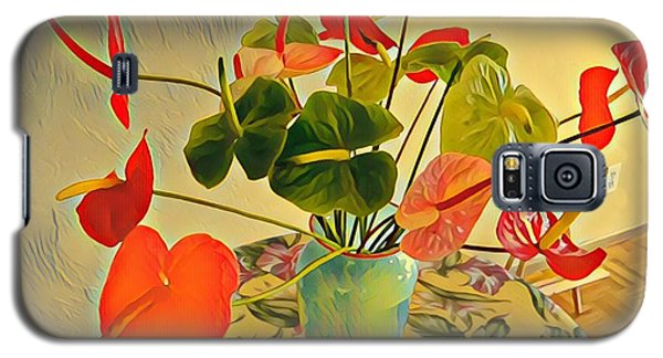 Mixed Aloha Anthuriums Matisse Galaxy S5 Case