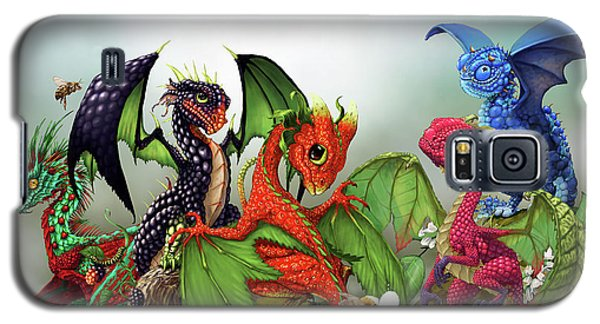 Mixed Berries Dragons Galaxy S5 Case