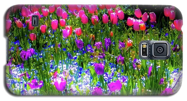 Mixed Flowers And Tulips Galaxy S5 Case