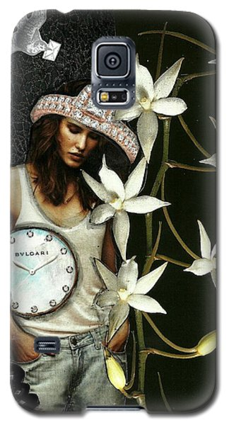 Mixed Media Collage Lost In Thought Galaxy S5 Case