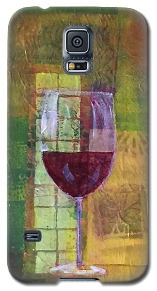 Mixed Media Painting Wine Galaxy S5 Case