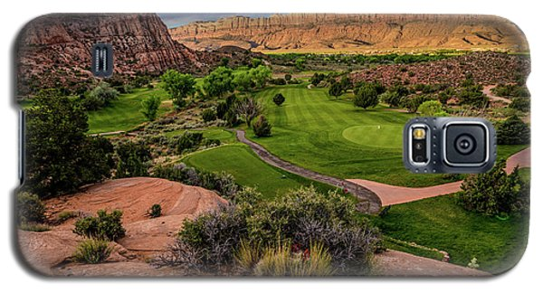 Moab Desert Canyon Golf Course At Sunrise Galaxy S5 Case