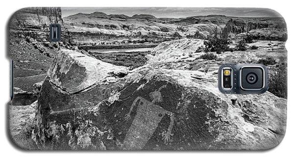 Moab Maiden Petroglyph - Black And White - Utah Galaxy S5 Case