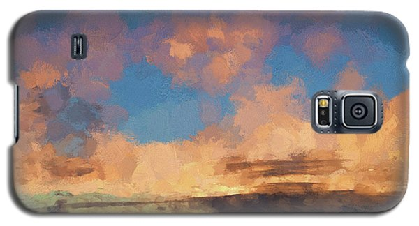 Moab Sunrise Abstract Painterly Galaxy S5 Case by David Gordon