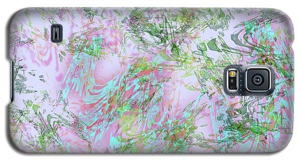 Mock Floral Purple Teal Galaxy S5 Case