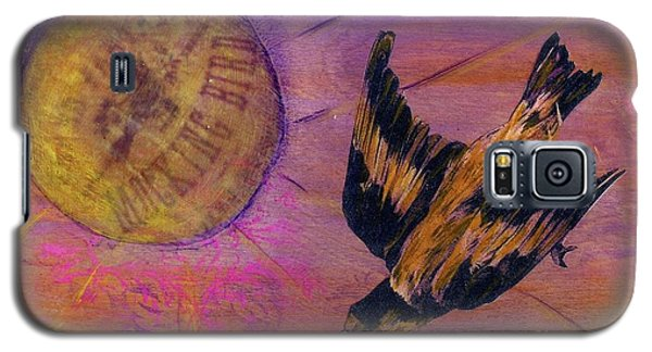 Galaxy S5 Case featuring the mixed media Mockingbird by Desiree Paquette