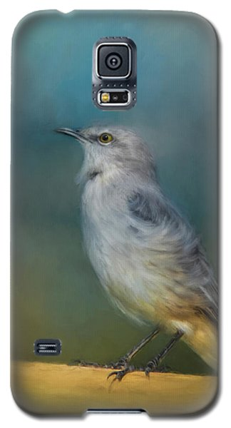 Mockingbird On A Windy Day Galaxy S5 Case by Jai Johnson