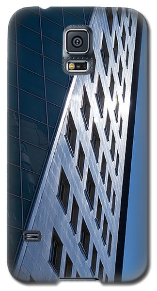Galaxy S5 Case featuring the photograph Blue Modern Apartment Building by John Williams