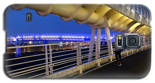 Modern Bicycle Overpass By Night Galaxy S5 Case by Yali Shi