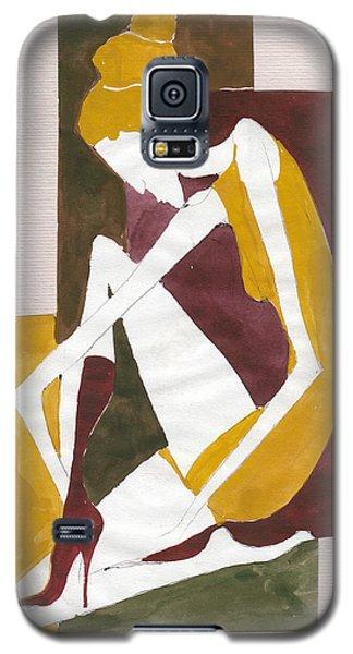 Galaxy S5 Case featuring the painting Modern Greek Goddess by Maya Manolova