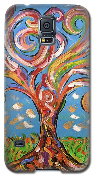 Galaxy S5 Case featuring the painting Modern Impasto Expressionist Painting  by Gioia Albano