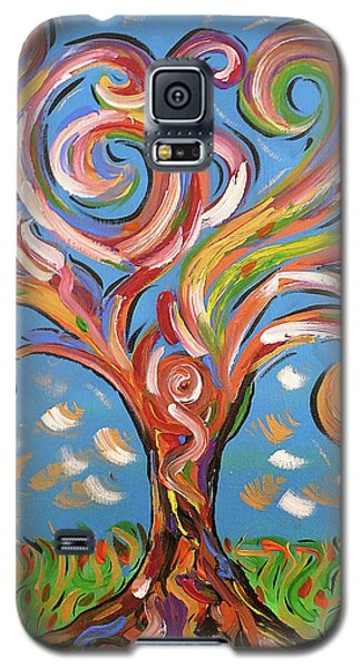 Modern Impasto Expressionist Painting  Galaxy S5 Case by Gioia Albano