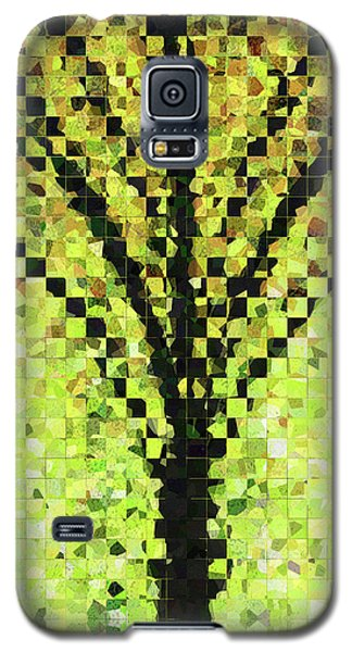 Galaxy S5 Case featuring the painting Modern Landscape Art - Pieces 10 - Sharon Cummings by Sharon Cummings