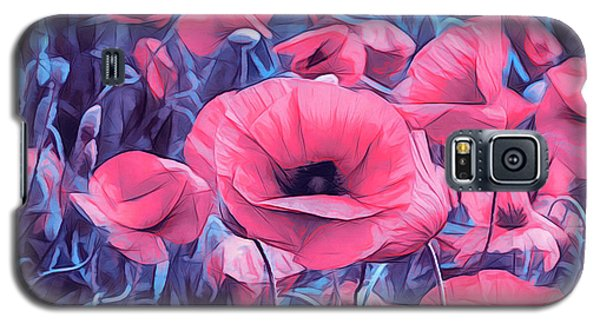 Modern Poppies Galaxy S5 Case