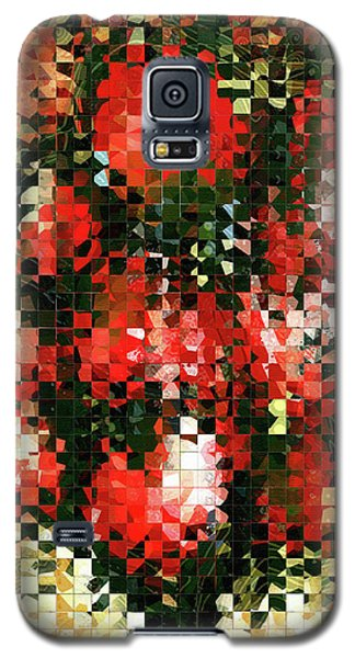Modern Red Poppies - Pieces 4 - Sharon Cummings Galaxy S5 Case by Sharon Cummings