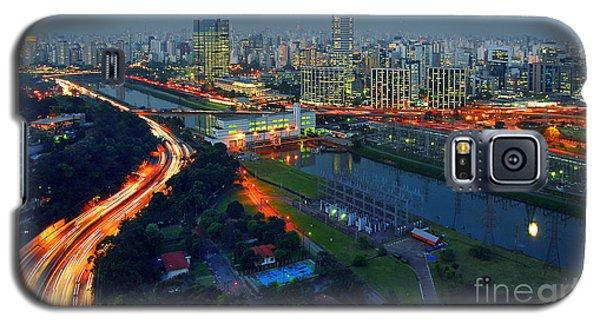 Modern Sao Paulo Skyline - Cidade Jardim And Marginal Pinheiros Galaxy S5 Case